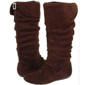 Report Makee Scrunch Vegan Flat Boots Women Brown